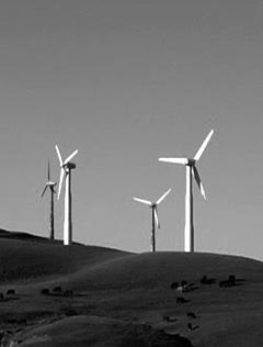 Solar Windmills on Hill