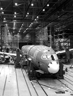 Airplane Being Built In Machine Shop